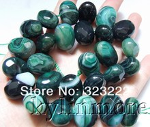 15x20mm green onyx Faceted Oval Beads(China)