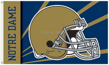 BSI Notre Dame Team Logo 3' x 5' Banner metal holes Flag- Helmet Design(China)