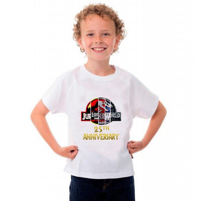 Children Jurassic World Short Sleeve Harajuku Dinosaur Print Summer T-Shirt Children Boys Girls Round Neck Cotton Soft T-Shirt