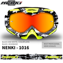 NENKI Motocross Goggles Motorcycle Racing Eyewear Skiing Snowboard Glasses Colorful Lens Unisex DH MTB Glasses Single Lens