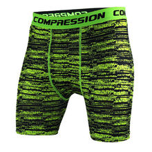 Mens Crossfit Camouflage Tight shorts Running training compression Quick-drying pants Gym jogging Fitness workout Bermuda Tights(China)