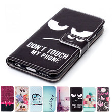 "Fashion Flip Leather Wallet Case Cover For iPhone 4 4s 5 5s SE 6 6s 7 Plus 7Plus ""Don't Touch My Phone"" Man's Style"