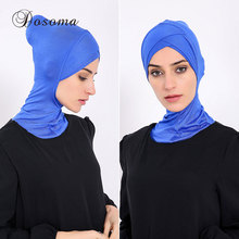 Muslim Underscarf Inner Hat Cotton Headscarf Bonnet Cap Hijab Scarf Cover Abaya Turban Headgear Hooded Instant Arab Islamic