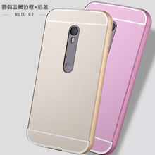 5 inch For Moto g3 Luxury Ultra thin Aluminum Metal + Acrylic Glass Back Cover Case For Motorola Moto g3 Phone Cases For G 3