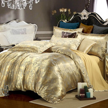 Luxury bedding set Silk 4pcs bedclothes bed linen sets queen king size Quilt/duvet cover set bedsheets cotton bedcover bed set