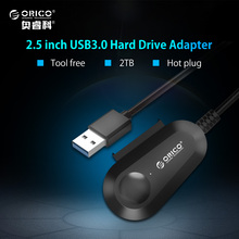 ORICO USB 3.0 SATA Adapter Support SATA 3.0 Hard Disk Drive SSD 7+15pin Built-in 20cm Cable for 2.5 inch HDD/SSD Hot Plug(China)