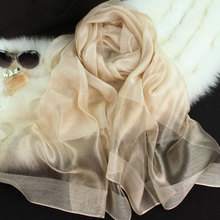 new silk women scarf 10 color fashion black stitching gold silk scarf silk scarves cotton shawls brand wj0120
