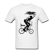 Cool Enjoy The Ride T Shirt man Blue Blusa Custom Made Metal to the Pedal for party Size XL