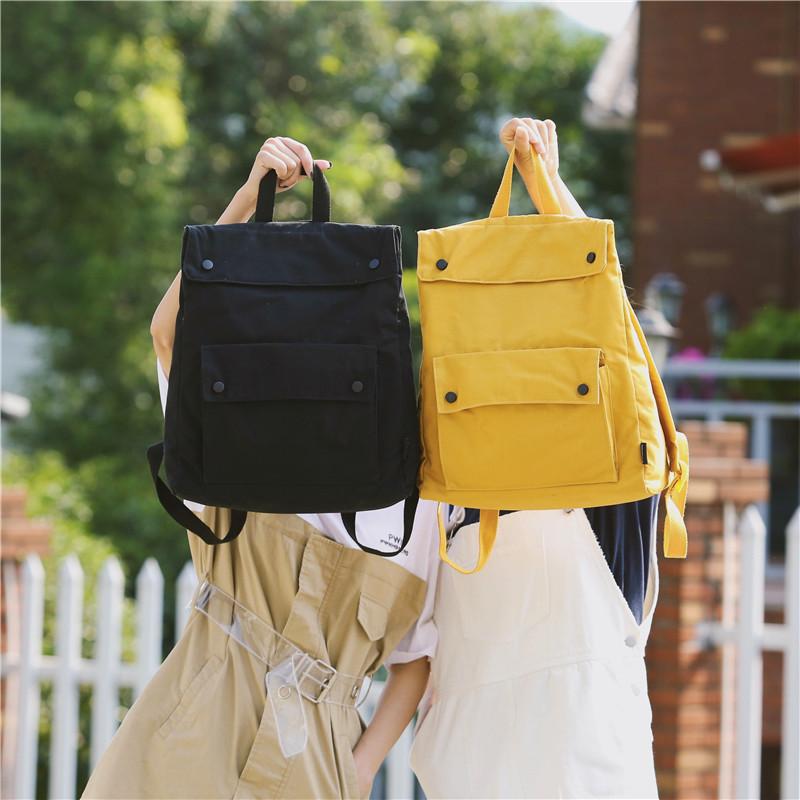 Menghuo Brand Female Women Canvas Backpack Preppy Style School Lady Girl Student School Laptop Bag Cotton Fabric bolsasGQNS0528