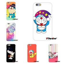 For iPhone 4 4S 5 5S 5C SE 6 6S 7 Plus Soft Silicone Cell Phone Case Cover Cute Japan Cartoon Animals Doraemon