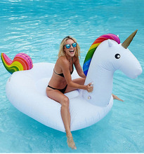 200CM Inflatable Unicorn Giant Pool Float Inflatable Swim Ring Flamingo Pool Inflatable Toys Inflatable Unicorn Swimming Float