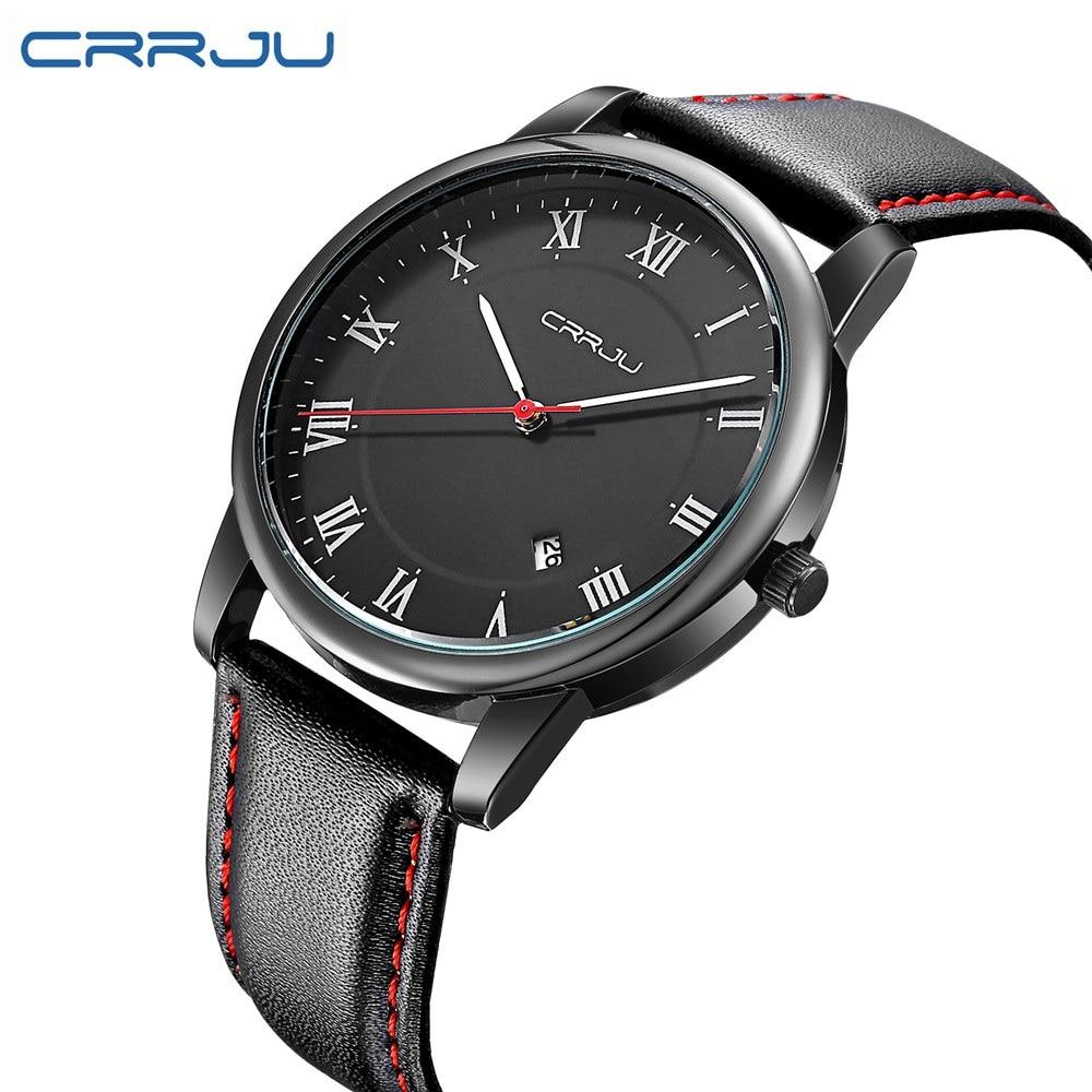 Watches Men New Luxury Top Brand CRRJU New Fashion Mens Dial Designer Quartz Watch Male Wristwatch relogio masculino relojes<br><br>Aliexpress