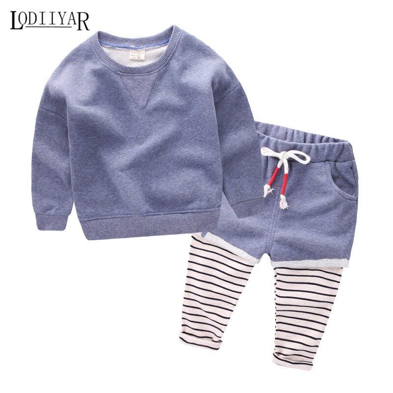 Baby Boys 1pcs Coat + 1pcs Pants Suit, 2017 New Autumn &amp; Spring Coat, Kids Boys Clothing Sets, Fashion Striped Boy Clothes<br><br>Aliexpress