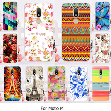 TAOYUNXI Hard Plastic Phone Case For Motorola Moto M XT1662 Cellphone Cover Case 5.5inch Flower Tower Shell Back Skin Phone Bag(China)
