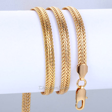 6mm Yellow/Rose/White Gold Filled Necklace Snake Bone Chain Necklace Mens Chain Necklace Wholesale 24inch LGNM29