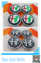 4pcs 2015 Style New Alfa Romeo 6.0cm 60mm color car Wheel car styling Center Hub Cap and Wheel Dust-proof Badge emblem covers