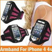 Adjustable Running belt For apple iPhone 4 4S Case SPORT GYM Armband Bag Waterproof Jogging Arm Band Mobile Phone Premium Cover