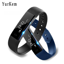 YurKem ID115 Smart Bracelet Activity Fitness watch Vibrating Alarm Clock Smartband pk fit bit xiomi meizu miband mi band 2