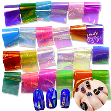 STZ 24 Colors Broken Glass Sticker Nail Art Starry Sky Laser Shinning DIY Transfer Foils Nail Art Tips Craft Decorations ND285