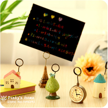 Creative Life Time Mini Decoration Notes Folder Message Folders Photo Holder Business Card Stand(China)