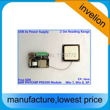 PR9200 860-960mhz EPC Gen2 UHF RFID module Reader+2dBi Antenna+USB cable+free English SDK(China)