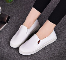 women fashion white flat loafer lady cute soft and comfortable slip on flats female casual canvas flat shoes zapatos planos