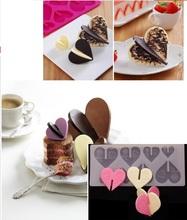 High Quality Rose Heart Shaped Silicone Mold Chocolate Mold Cake Decoration