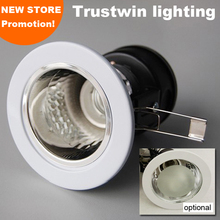4 pieces Recessed white retrofit indoor outdoor ceramic ceiling edison LED downlight fixture E26 E27 lamp bulb light holder