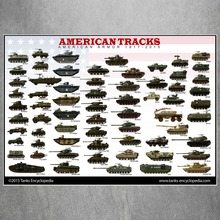 American Tracks Tanks Vintage Retro Military Posters painting Print No frame Pictures Decor For Living Room