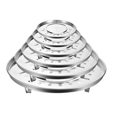 Stainless Steel Steamer Rack Insert Stock Pot Steaming Tray Stand Cookware Tool Cake Cooling Tray(China)