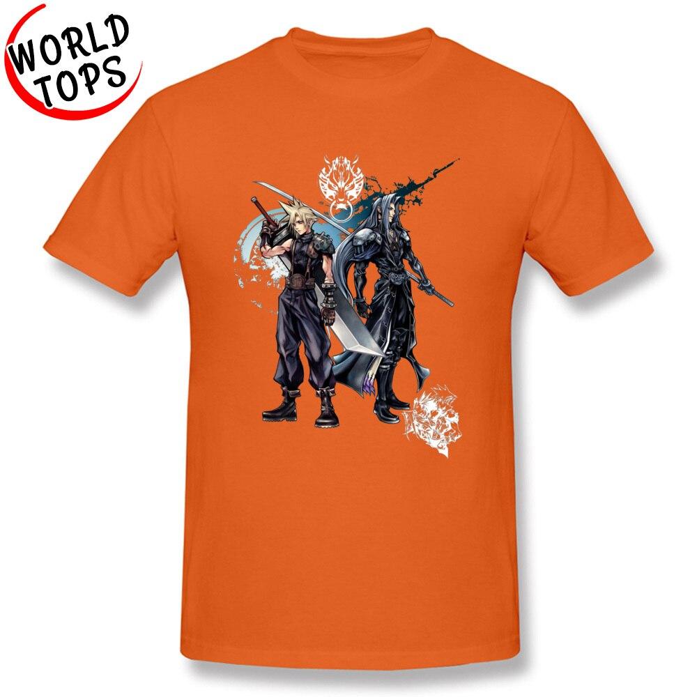 FFantasy -2365 Cotton Fabric Tees for Men Geek Tshirts comfortable Special O-Neck Tshirts Short Sleeve Top Quality FFantasy -2365 orange