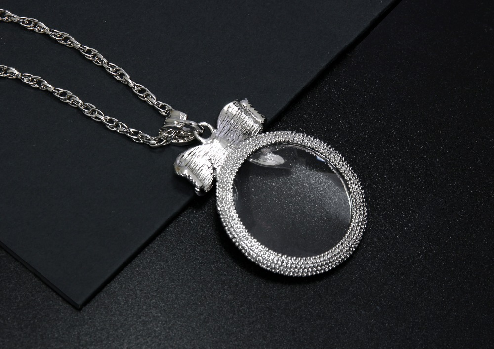 2x Magnifying Glass Top Quality Necklace Reading Glass Pendant (5)