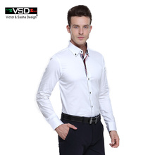 Top Sale Italian Men Shirts 7 Camicie Style camisas hombre Men's Shirt Long Sleeve Euro Size Homme camiseta masculina VSD Shirt(China)