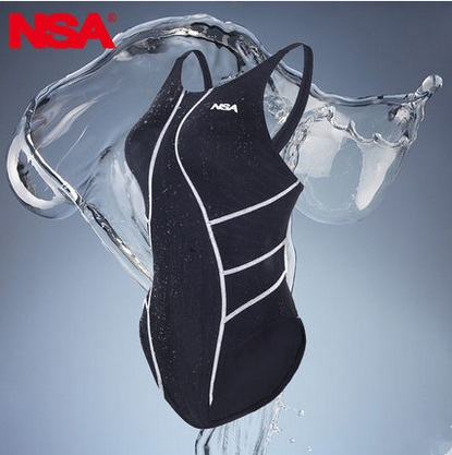 NSA Girls One Piece Competition Italy Fabric Racing Training Swimwear Lady Spandex Waterproof Training BodyBuilding Swimsuit<br>