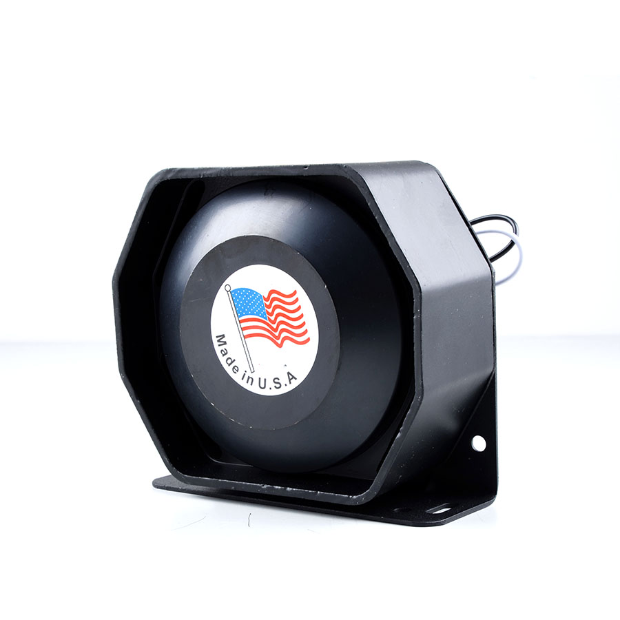 DC12V 200W Black Ultra Slim Metal Speaker Car Styling Police Siren Flat Loudspeaker Electronic Honr for All Car(China)