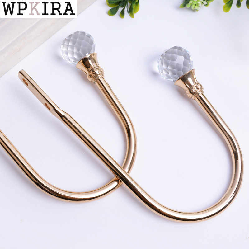 2 Pcs/Set Curtain Holder Living Room Curtain Holdback Curtains Decoration Accessories Tieback Leaves Curtain Hooks A046&20
