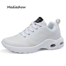 women casual shoes four seasons Leather net woman fashion Trainers Air Mesh Breathable women sneakers shoes white tenis feminino(China)
