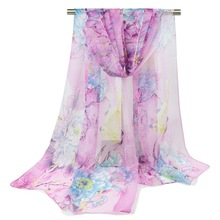2016 winter Chiffon silk Scarf female summer autumn all-match scarf long design air conditioning cape silk scarves shawls S197(China)