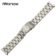 Stainless Steel Watchband for Casio Edifice EF 500 512 524 527 530 544 547 550 554 Sheen SHN 3013 Watch Band Wrist Strap Silver