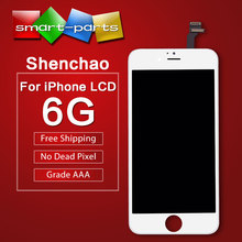 Alibaba China Grade AAA Pantalla For Apple iPhone 6 LCD Display With Touch Screen Digitizer Assembly Black White(China)