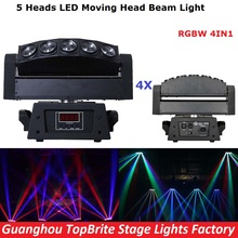 4XLot 5 Heads Beam Moving Head Wash Light High Quality 5*10W Led Beam Bar Moving Head Lights For Party Wedding Events Lighting