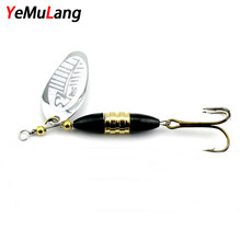 Buy YeMuLang 1 piece Hard Fishing Lures 8.5cm Spinner Baits Isca Artificial Pesca Carp Fishing Wobbler Peche Metal Spoon Hook for $1.09 in AliExpress store
