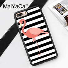 awesome flamingo printable Soft TPU Skin Mobile Phone Case Funda For iPhone 7 7 Plus 6 6S Plus 5 5S 5C SE 4 4S Back Cover Shell