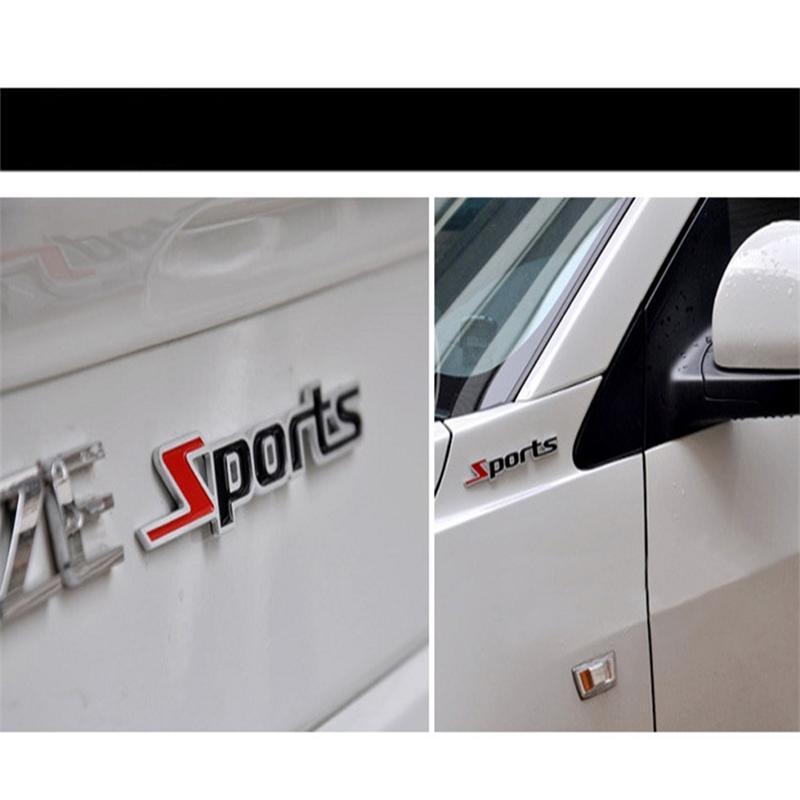 Carta de palabra Deportes 3D Cromo Metal Pegatina de Coche Emblema Insignia Calcomanía Auto