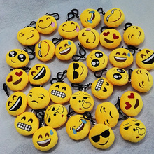 Wholesale 50pcs/lot New 6cm Novelty Smile Emoji Soft Pendant Plush Toys What APP Emoji mini toys(China)