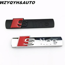 3D S Line Sline Car Front Grille Emblem Badge Stickers Accessories Styling For Audi A1 A3 A4 B6 B8 B5 B7 A5 A6 C5 C6 A7 TT