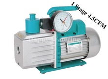 Single Stage 4.5CFM 1/3HP Rotary Vane Deep Portable Vacuum Pump HVAC R410a R134+ Electromagnetic Valve+ Precision Gauge