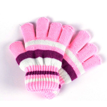 New Baby Cotton Gloves Striped Autumn Winter Warm Comfortable Baby Glove Unisex Boy Girl Mittens Baby Accessories 2016 Hot Sale(China)
