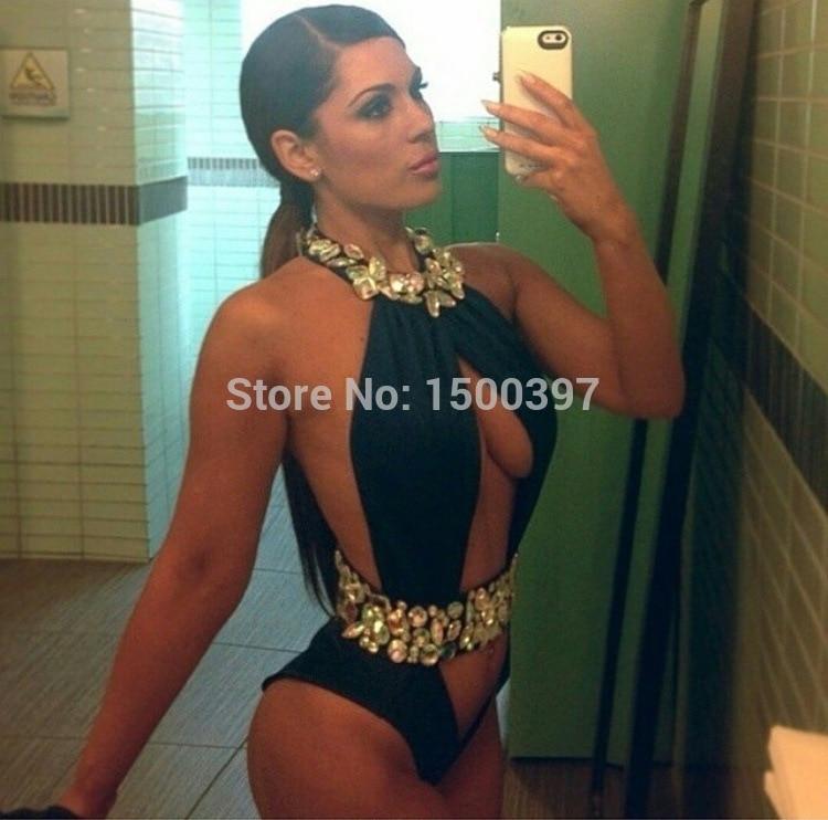 2015 Diamond One Pieces Swimwear For Women,Rhinestone/Crystal Swimsuit Sexy Bathing Suit Monokini<br><br>Aliexpress