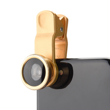 Mobile Phone Lenses Wide Angle Macro Fisheye Lens 3-in-1 Kit with Clip 0.67x Fish Eye Lens for iPhone For Samsung Lens Universal